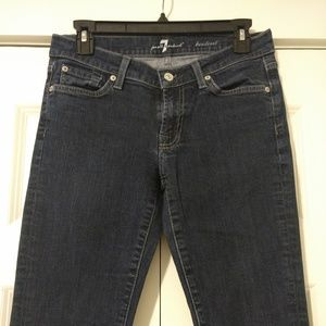 7 for all mankind bootcut jeans, Size 28.